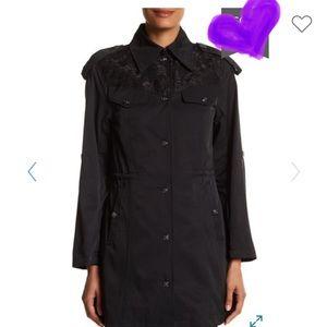 Nanette Lepore Lace Yolk Trench Coat